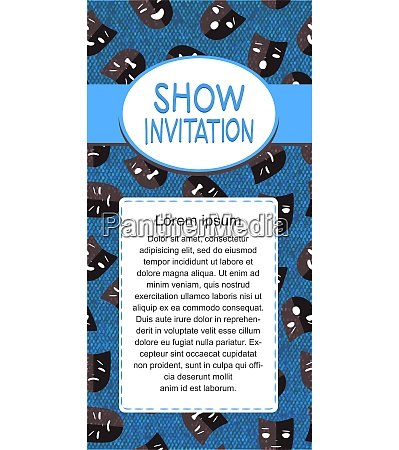 theater show invitation for drama and