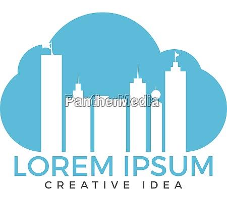 cloud building logo designs
