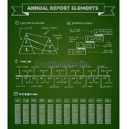 chalkboard infographics elements for charts and