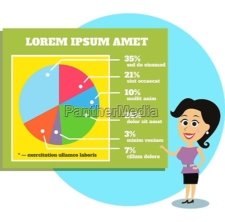business life businesswoman presenting graphs and