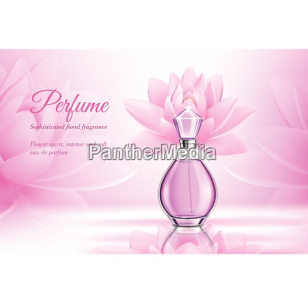 perfume product rose composition for advertising