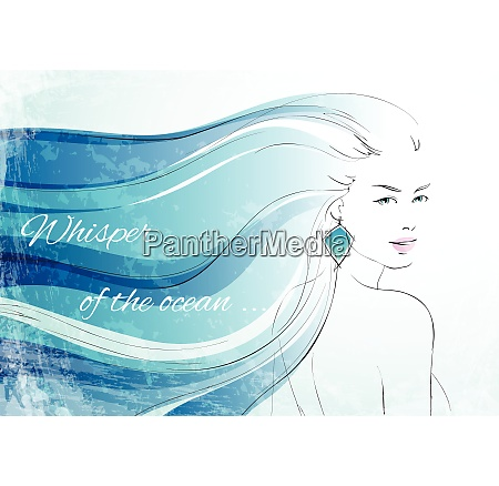 whisper of the ocean background with