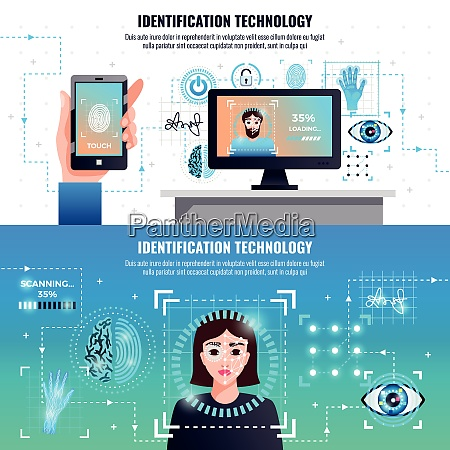 identification technology 2 infographic elements horizontal