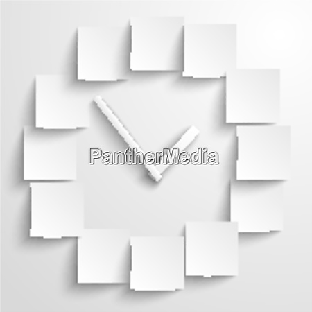 abstract paper clock with blank digits