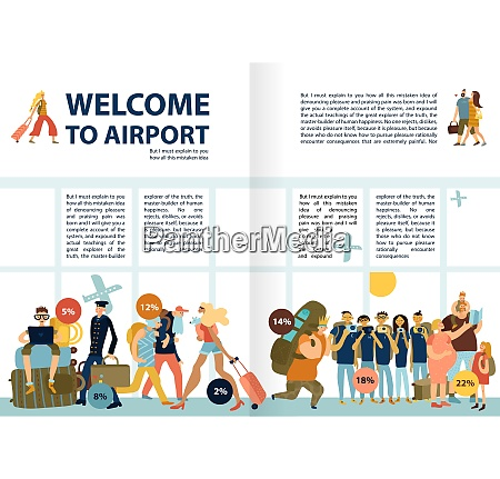 airport services information infographic text with