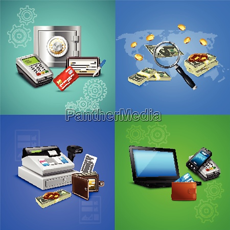 payment methods realistic design concept with