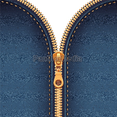 half closed gold metallic zipper sewing