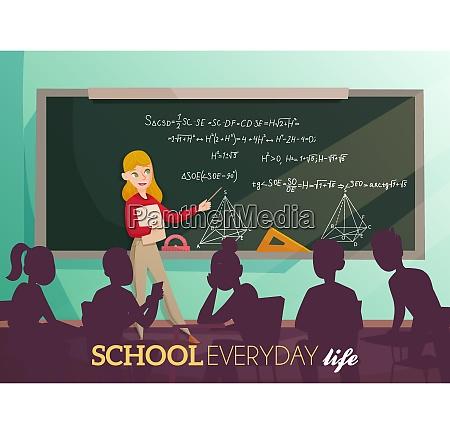 daily life in school teacher near