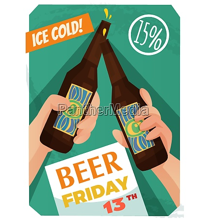 beer poster with event advertising discount