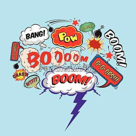 comic speech bubble design element boom