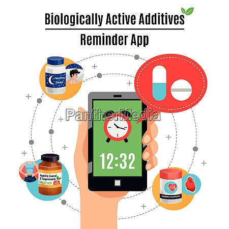 time reminder smartphone app about biological