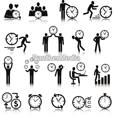 business man with clock time management