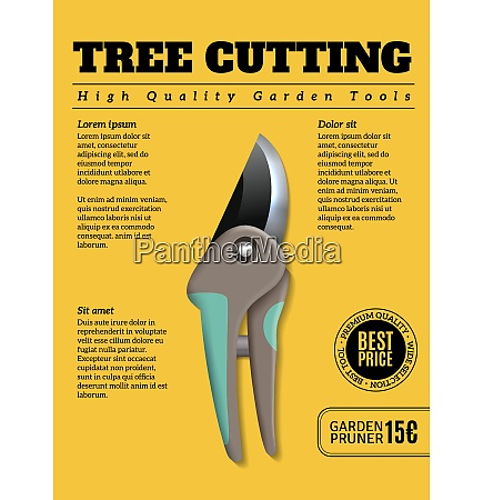high quality garden tools realistic advertisement