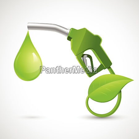 green bio fuel concept with fueling