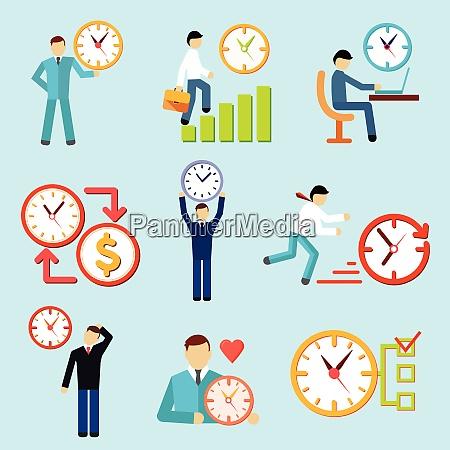 decorative set of flat time management
