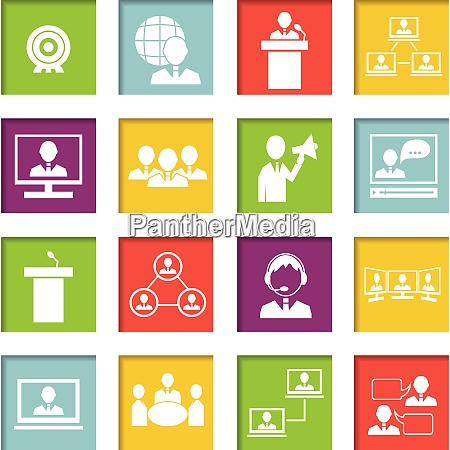 business people online meeting strategic concepts
