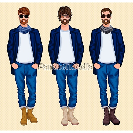 hipster character pack guys male men