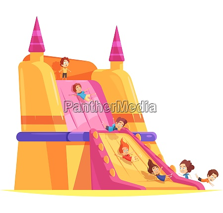 jumping trampolines composition with images of