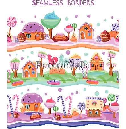 fairy tale candy land with lollipops