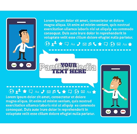 business life employee mobile communication infographic
