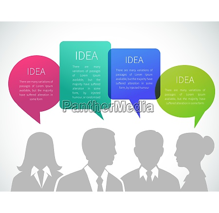 business meeting concept with people silhouettes