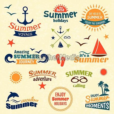 vintage summer voyage enjoy holidays elements