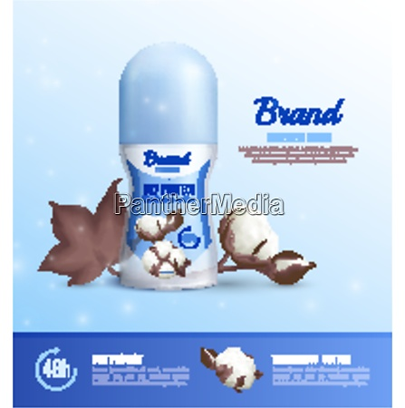 deodorant bottles realistic poster of different