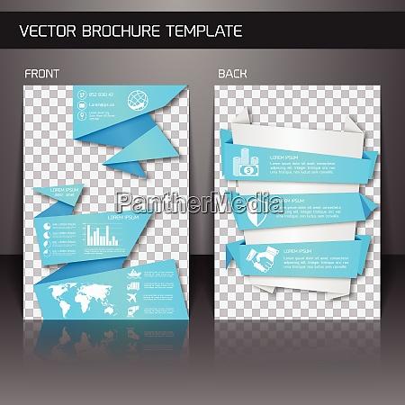 blue origami business corporate design brochure