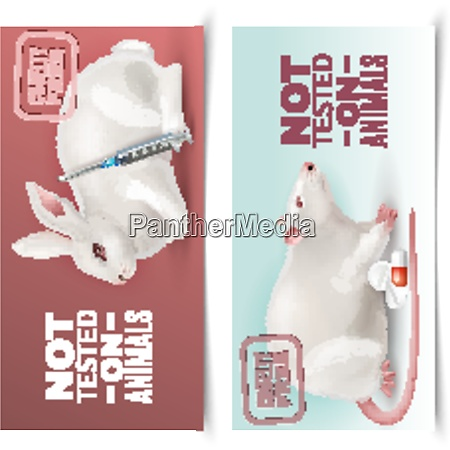 not tested on animals horizontal banners
