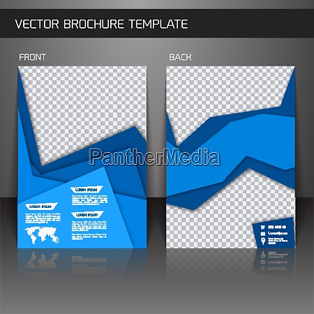 blue abstract business corporate design brochure