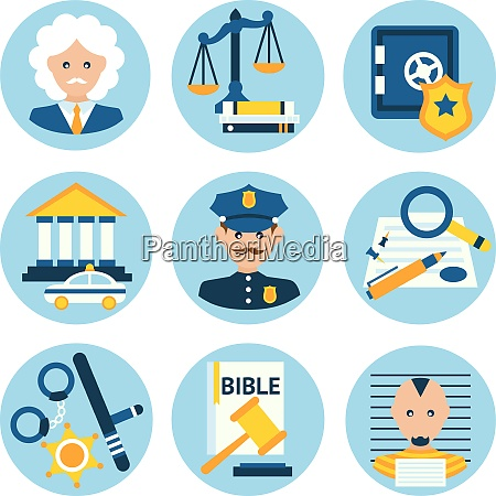 law legal justice judge police and