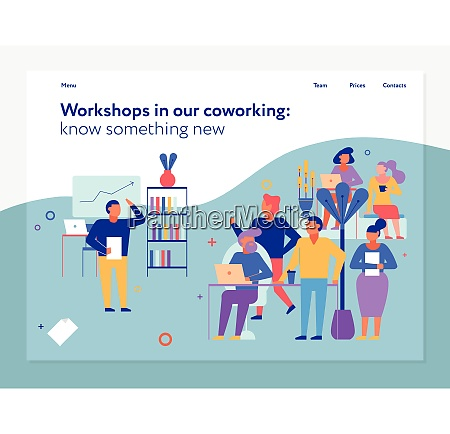 workshops in coworking page design with