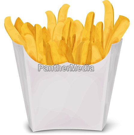 fast junk food french fries in