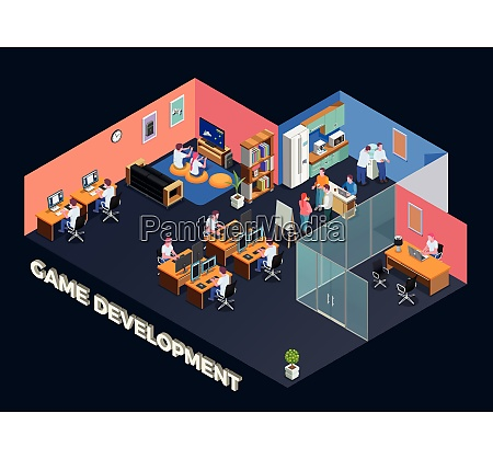 game development isometric composition with programmers