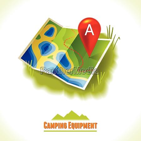 camping summer outdoor activity concept equipment