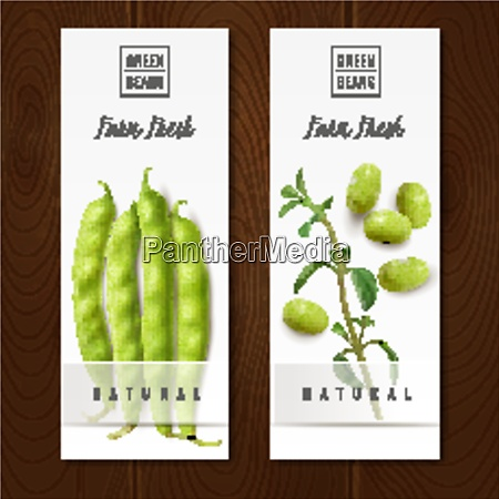 fresh organic green beans pods healthy