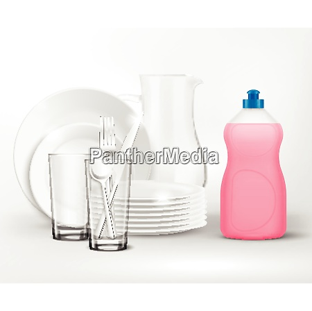 detergent bottle clean dish wash composition