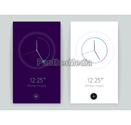 interface countdown application banners set with