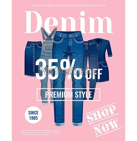 sale with discount of denim clothing