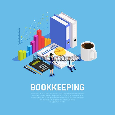 book keeping isometric composition with charts