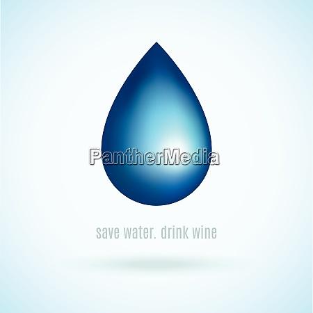 blue water rain natural drop in