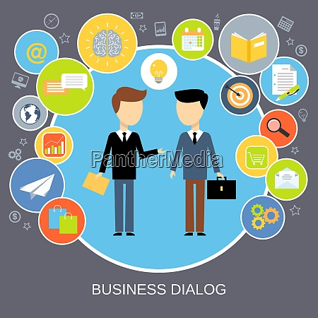 business dialog concept with people chatting