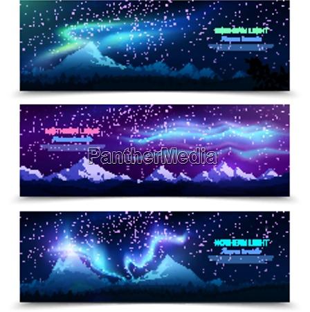 northern lights aurora borealis night sky