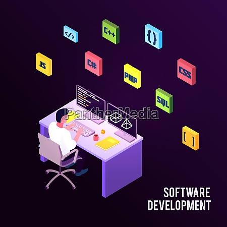 colored isometric programmers composition with software