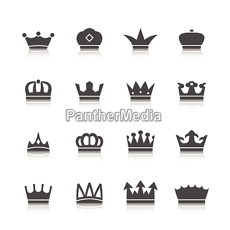 decorative prince princess king type crowns