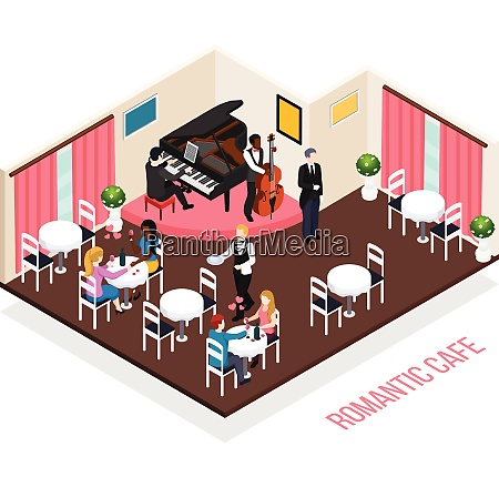 musicians of romantic cafe pianist performer