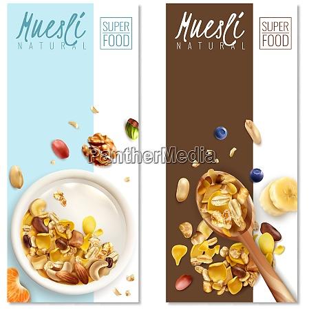muesli healthy food 2 realistic vertical