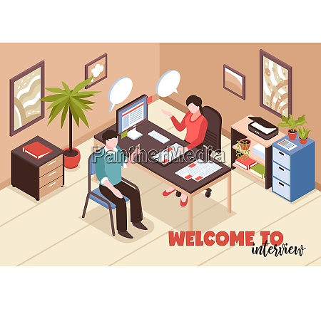isometric job search recruitment composition with