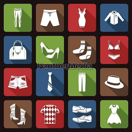 male and female fashion clothes underwear