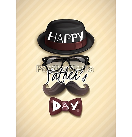 happy fathers day greeting card with